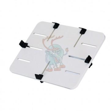 """P-Tisch, ABS-Kunststoff weiß, 300 x 210 mm, passend für Tablets von 10"""" - 13"""", Einspannbereich 151-297 x 103-207 mm"""