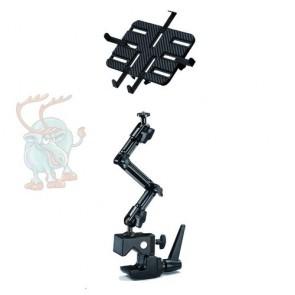 DO-JQ Halter mit Super-Klemme speziell für schwierige Befestigungssituationen an Trägern und Stangen, für Tablet und Kamera